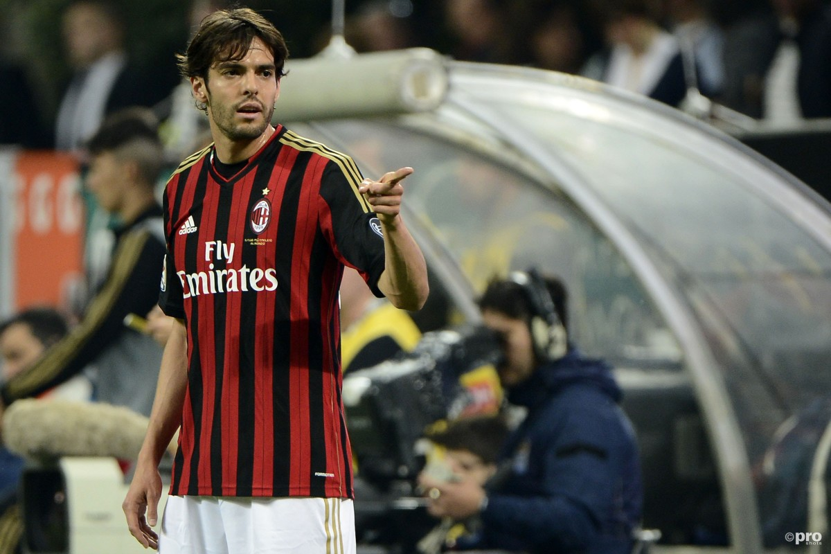 Kaka playing for Milan against Inter in Serie A at the San Siro in 2014