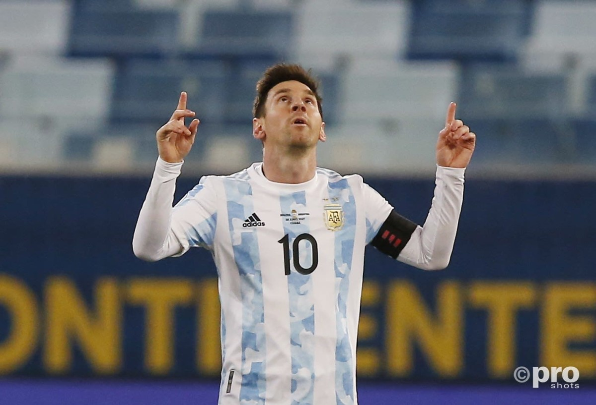 Lionel Messi scores for Argentina against Bolivia at the Copa America