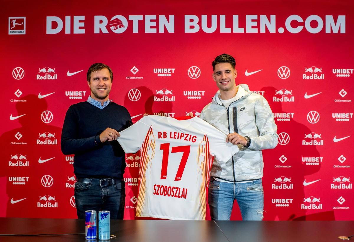 Szoboszlai extends Leipzig contract despite not making debut