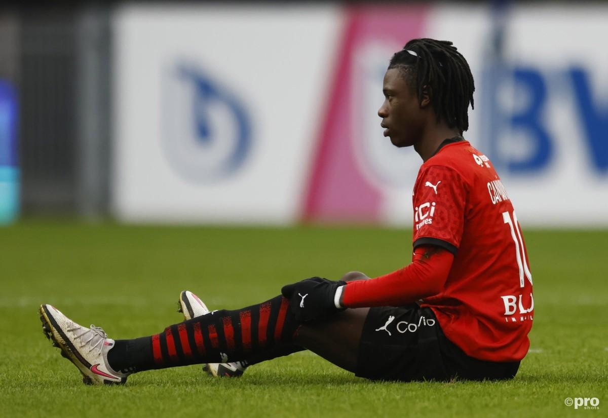 Man Utd and PSG target Eduardo Camavinga playing for Rennes in Ligue 1