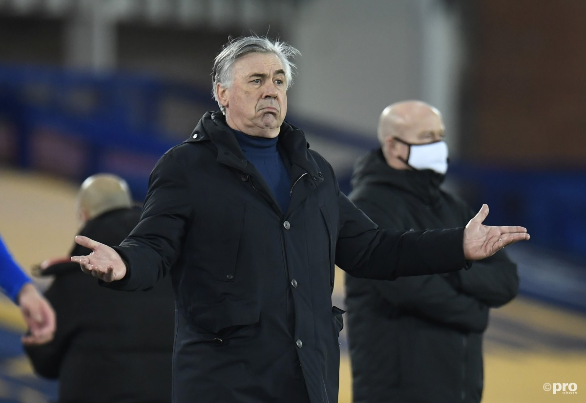 Ancelotti: I don't have the players at Everton to play the way I want