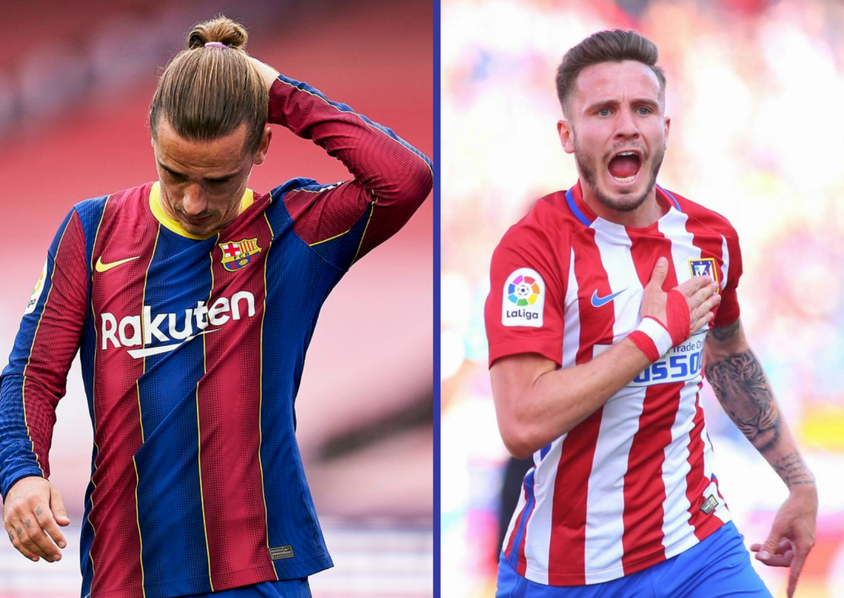 Antoine Griezmann and Saul Niguez are set to be swapped by Barcelona and Atletico Madrid