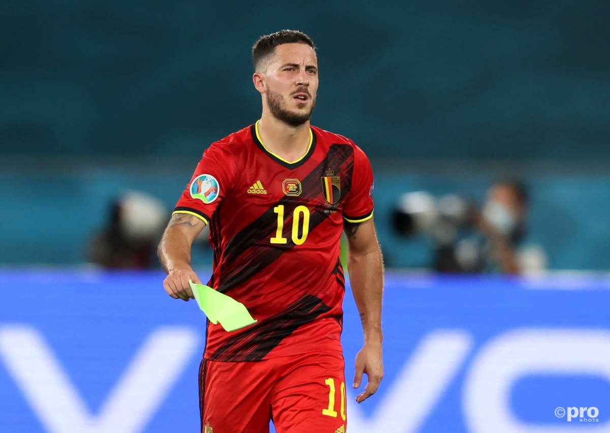 Real Madrid's Eden Hazard limped out of Spain's Euro 2020 match with Portugal