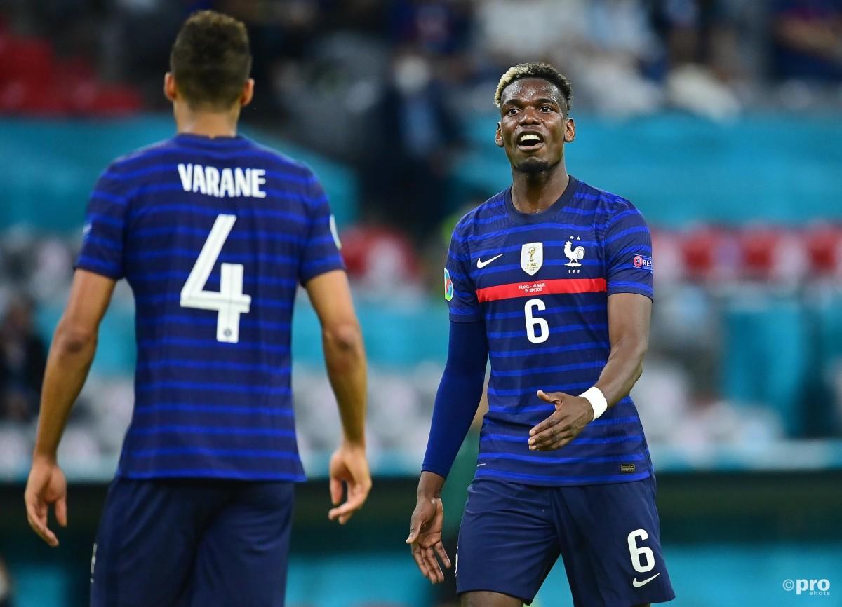 Paul Pogba and Raphael Varane at Euro 2020