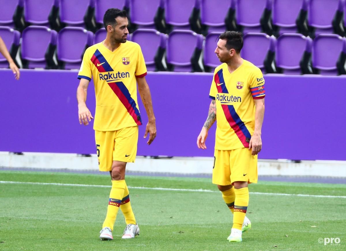 Lionel Messi and Sergio Busquets