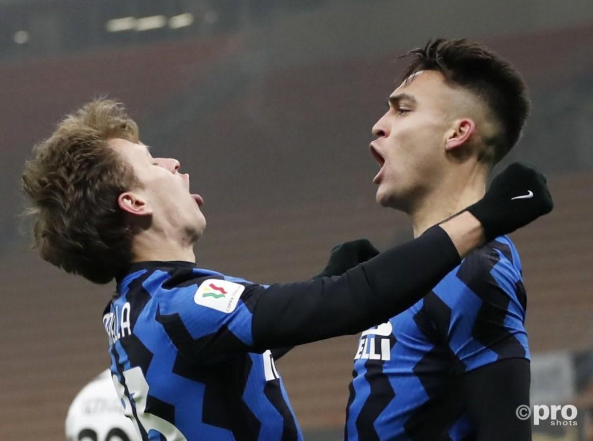 Nicolo Barella and Lautaro Martinez, Inter