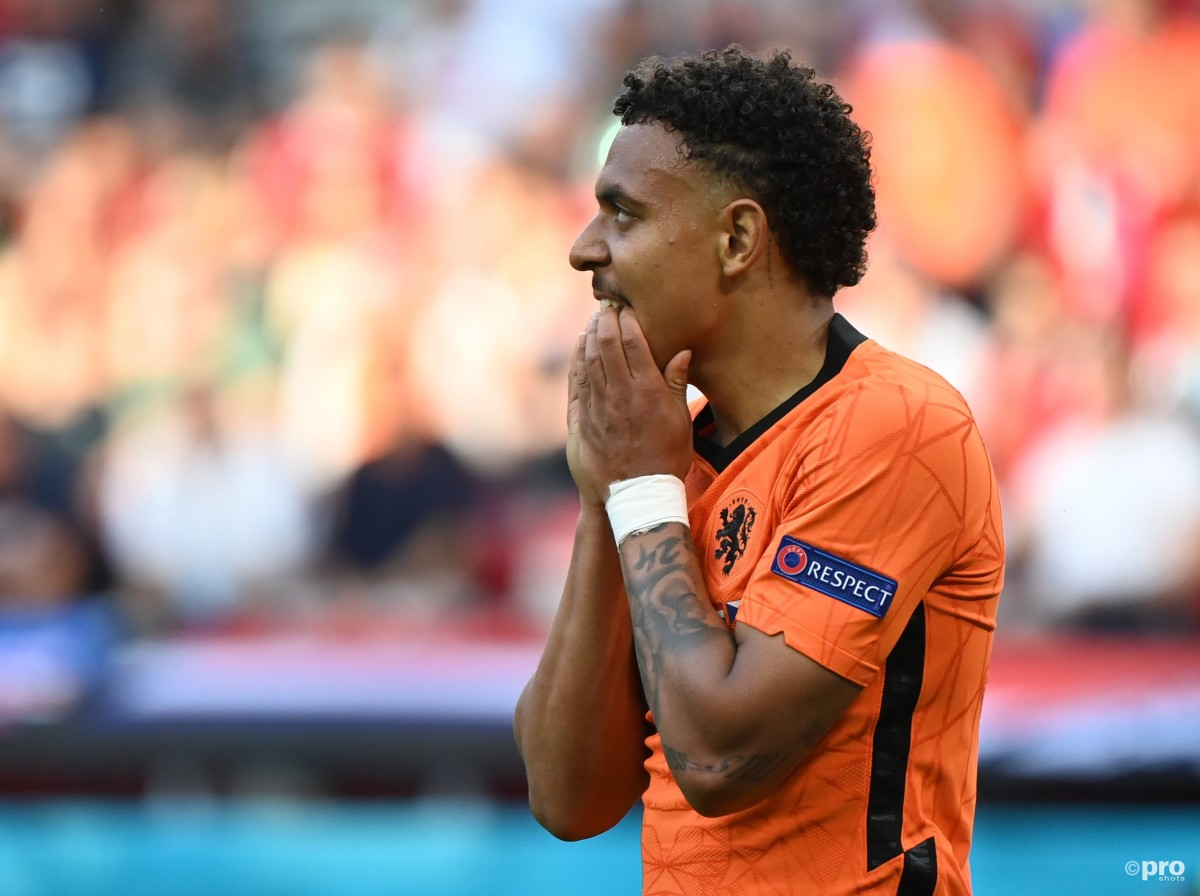 Donyell Malen featured for Netherlands at Euro 2020