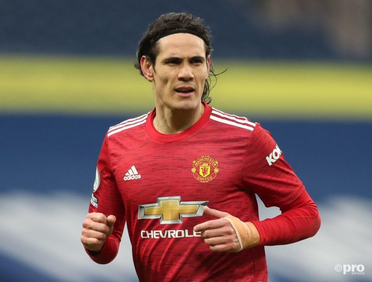 Man Utd striker Edinson Cavani