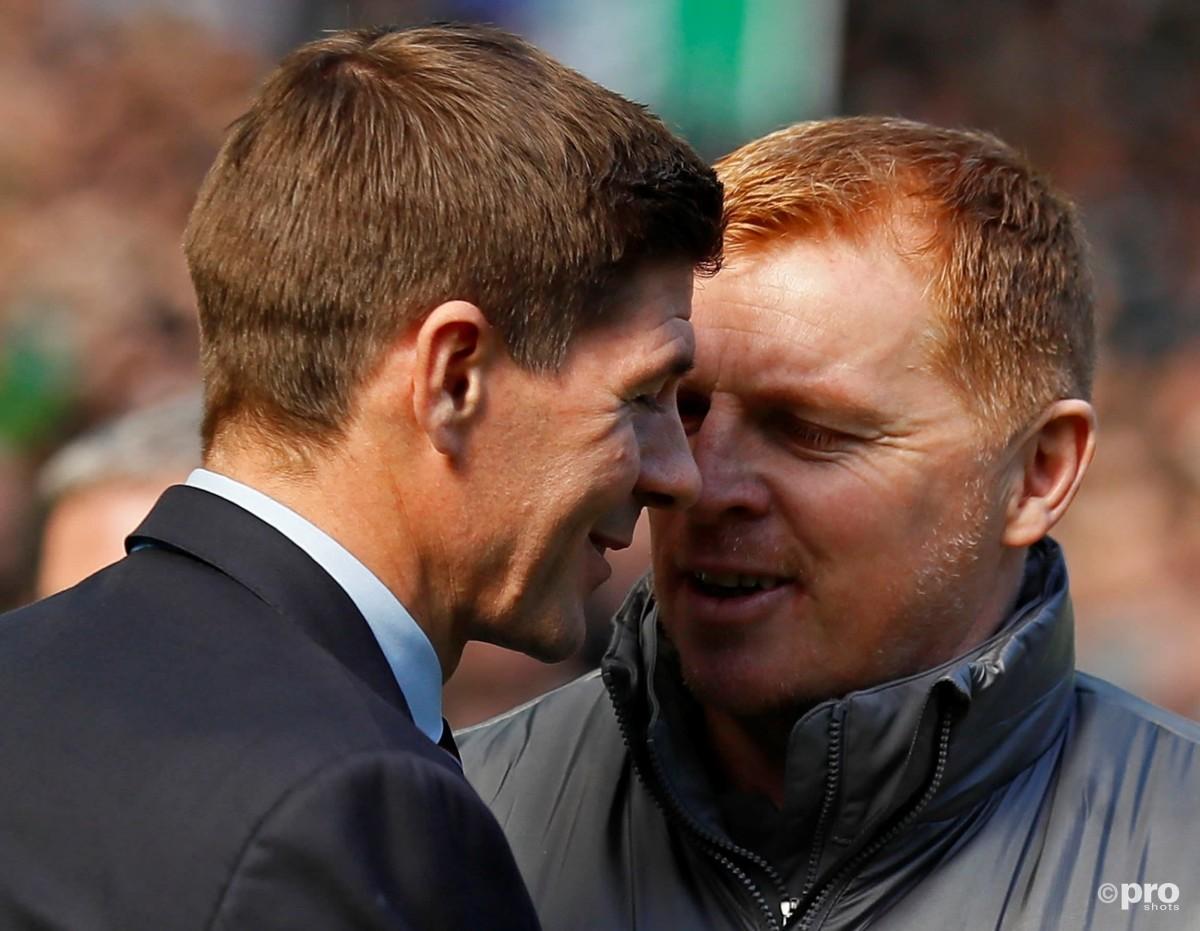 Steven Gerrard & Neil Lennon, Celtic v Rangers, Scottish Premiership