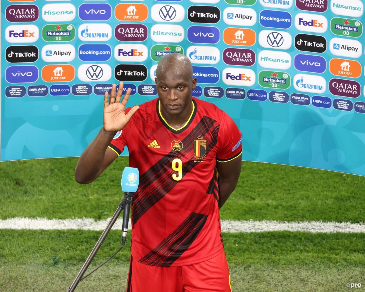 Romelu Lukaku interviewed after Belgium v Russia at Euro 2020